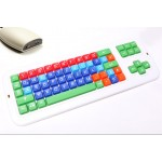 Clevy drahtlose Tastatur mit Empfnger